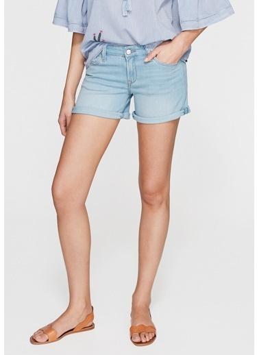 Mavi Mini Jean Şort Mavi